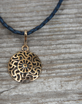 "Bronze necklace ""Sun"" small"